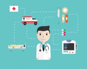 Medical icons in flat style Photoshop brush