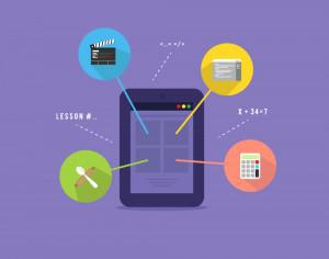 E-learning platform illustration Photoshop brush