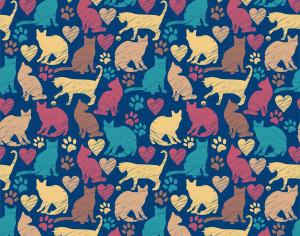 Seamless pattern of cats Photoshop brush
