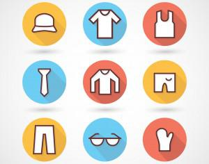 Clothing icons set Photoshop brush