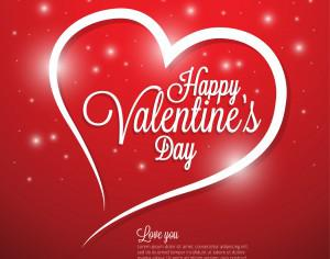 Valentines day illustrations and typography elements Photoshop brush