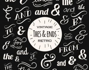 Various Vintage Typography Collection Photoshop brush