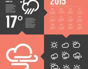 Weather Background with Icon set Photoshop brush