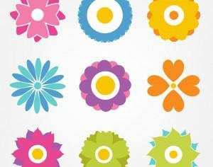 Flower vector set Photoshop brush