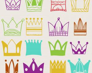 Crown vector set  Photoshop brush