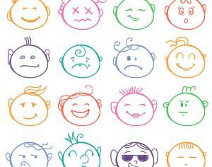 Face expressions vector set  Photoshop brush