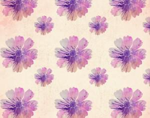 Watercolor floral pattern Photoshop brush