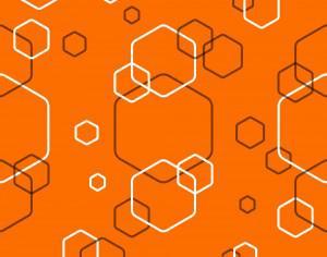 Orange Abstract Hexagonal Pattern Photoshop brush