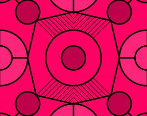 Geometric Fuchsia Pattern Photoshop brush
