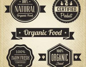 Organic Food, Vintage Labels Photoshop brush