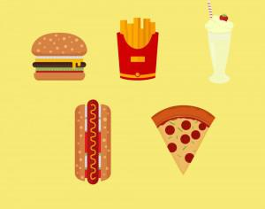 American Fast Food Icons Photoshop brush