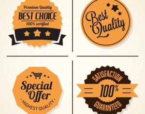 Set of retro vintage badges and labels Photoshop brush
