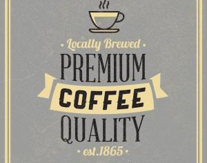 Retro Vintage Coffee Background with Typography Photoshop brush