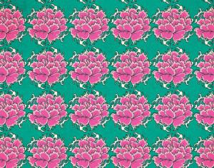 Vintage japanese pattern with flowers Photoshop brush