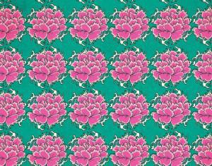 Vintage japanese pattern with flowers Photoshop brush
