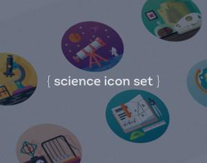 Science icon set Photoshop brush