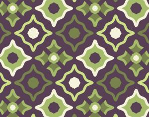 Vintage Purple Green and Cream Pattern Photoshop brush