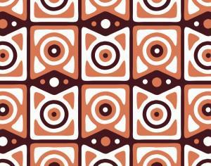 Retro Maroon, Orange, and White Pattern Photoshop brush