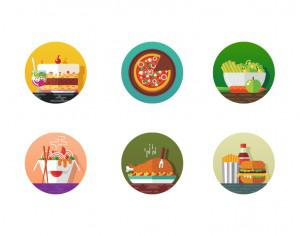 Food icons Photoshop brush