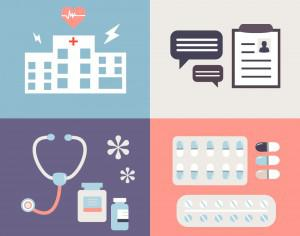 Medical objects for design. Vector illustrations Photoshop brush