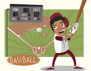 Baseball game characters and objects. Vector illustration Photoshop brush