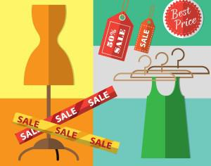 Shopping objects illustration for design Photoshop brush