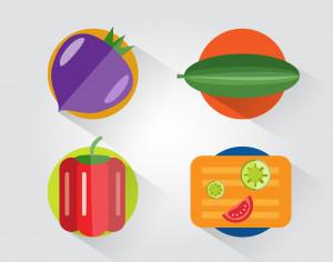 Food objects for design. Vector illustrations Photoshop brush