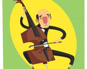 Music cartoon character vector illustration for design Photoshop brush