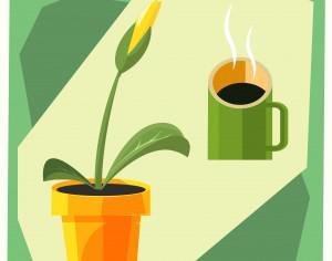 Home flower vector illustration for design Photoshop brush
