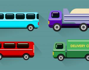 Transport objects vector illustration for design Photoshop brush