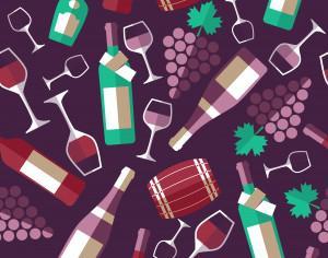 Wine background Photoshop brush