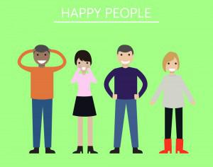 Group of people looking happy and smiling Photoshop brush