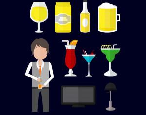 Icons for bartender Photoshop brush