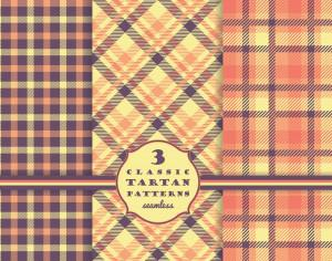 Set of tartan seamless pattern  Photoshop brush