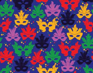 Seamless pattern with carnival mask Photoshop brush