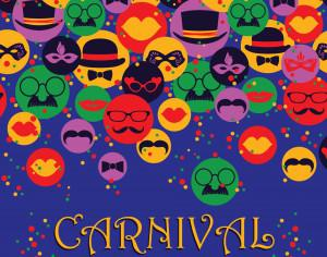 Celebration festive background with carnival icons and objects. Vector illustration Photoshop brush