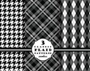 Set of classic plaid patterns Photoshop brush