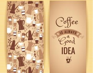 Coffee concept design.  Photoshop brush