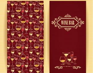 Wine concept design.  Photoshop brush