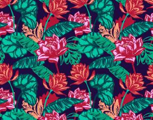 Seamless floral pattern. Photoshop brush