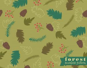 Forest seamless pattern Photoshop brush