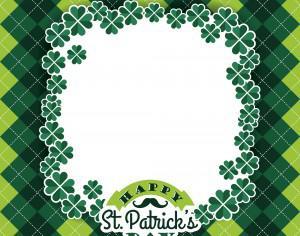 Saint Patricks Day baskground. Vector illustration Photoshop brush