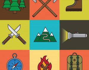 Camping Icon Set Photoshop brush
