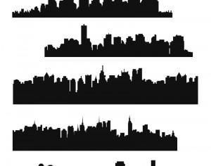 Vector Skyline Set Photoshop brush