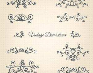 Vintage Vector Decorations Set Photoshop brush
