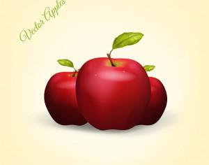 Realistic Vector Apples Photoshop brush