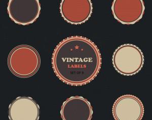 Vintage Vector Labels Set Photoshop brush