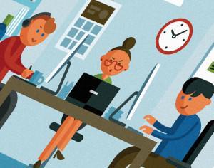 Office illustration Photoshop brush