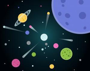 Vector illustration Planets Photoshop brush