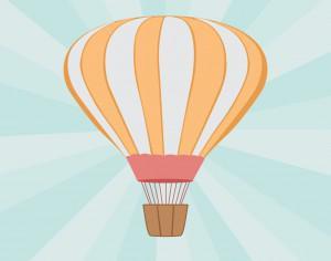 Vector illustration Air balloon Photoshop brush